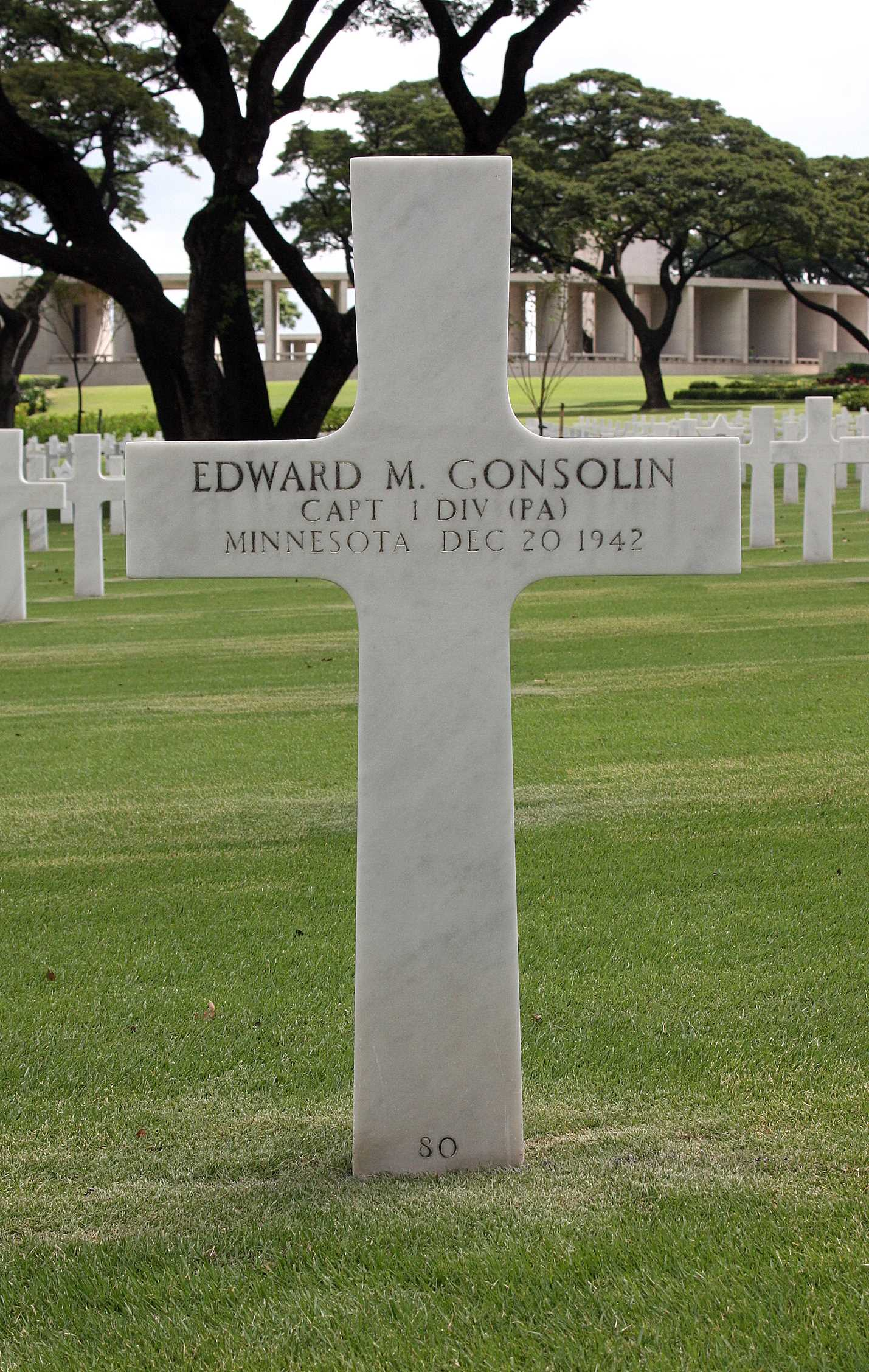 Gonsolin, 1st Lt. Edward M. Jr 3 - Bataan Project