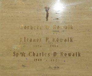 Kowalk, Spc 4 Charles N. 3 - Bataan Project