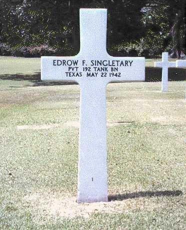, Singletary, Pvt. Edrow F., Bataan Project 2.0