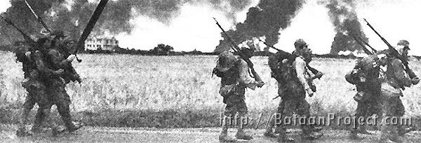 Japanese soldiers advance